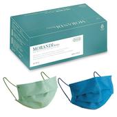水舞 成人醫療平面口罩 (莫蘭迪混色款-綠盒-2色各15片共30片/盒)
