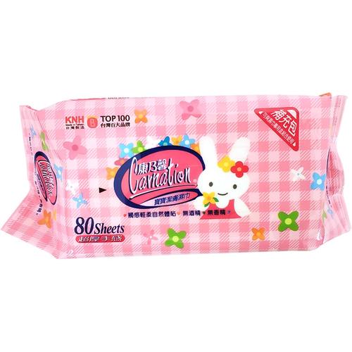 康乃馨 寶寶濕巾補充包厚片(80片/包)