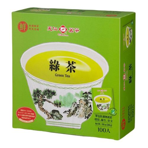 《天仁》防潮包綠茶(2g*100包/盒)