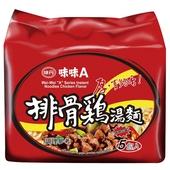 《味丹》味味A排骨雞麵(90gx5包/組)