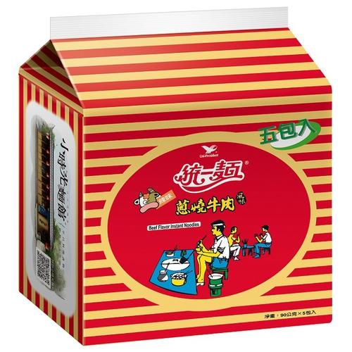 《統一》蔥燒牛肉風味(90gx5包/組)