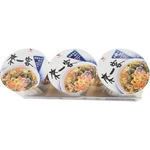 《統一》來一客杯麵-鮮蝦魚板風味(63g*3杯/組)
