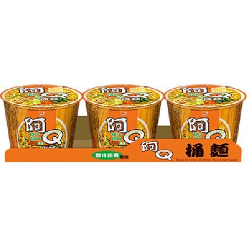 統一 阿Q桶麵 - 雞汁排骨風味(107g*3桶/組)