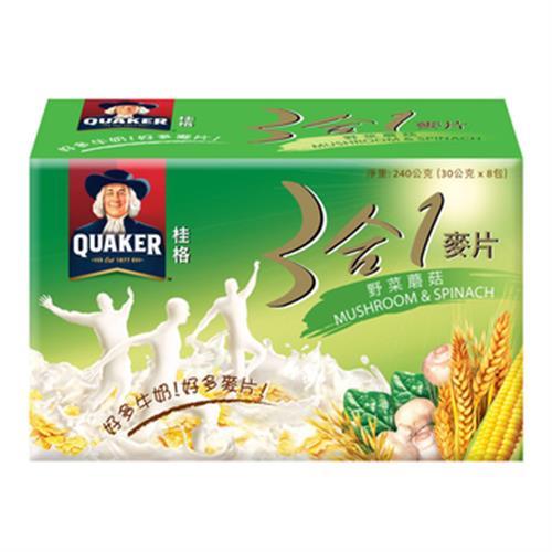 桂格 三合一麥片-野菜蘑菇(30g*8包/盒)