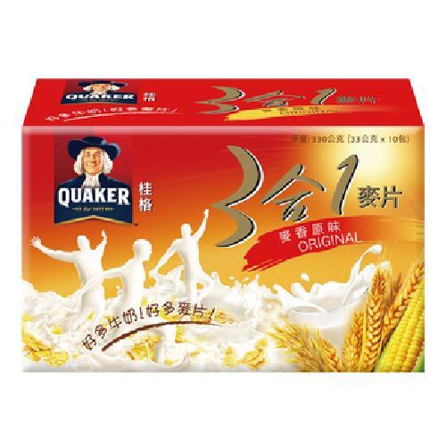 桂格 三合一麥片-麥香原味(33g*10包)