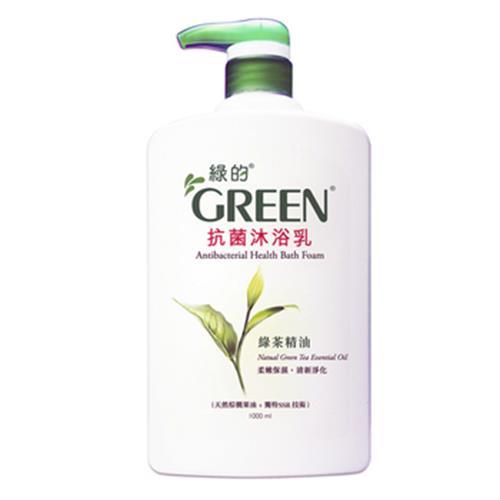 《GREEN綠的》抗菌沐浴乳-綠茶(1000ml)