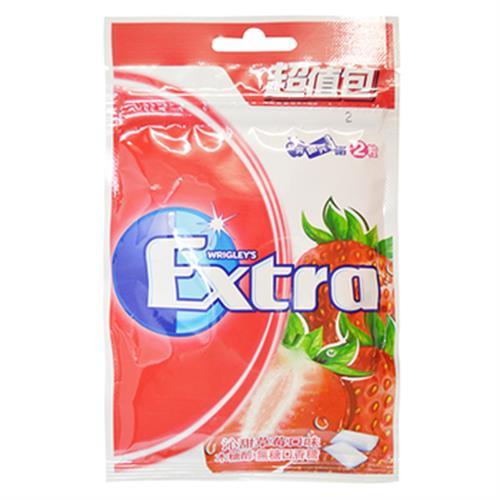 Extra 無糖口香糖-沁甜草莓(28公克/袋)