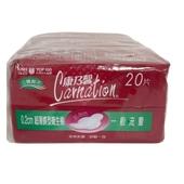 《康乃馨》超薄蝶型衛生棉一般21.5cm(20片*3包)