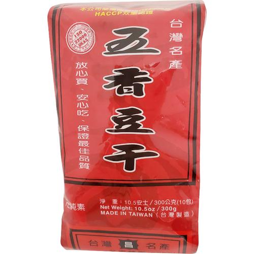《德昌》紅標五香豆乾 4片x10包(300g/組)