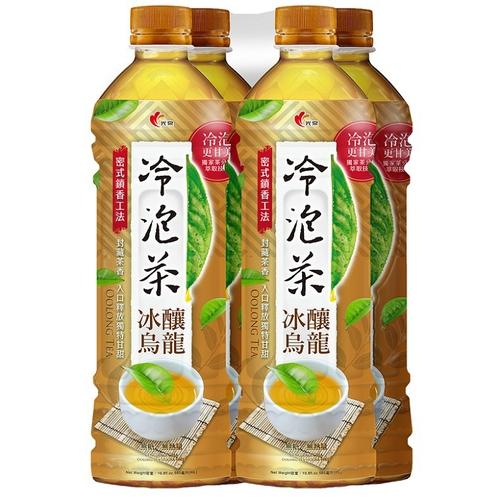 光泉 冷泡茶冰釀烏龍-無糖(585ml*4瓶/組)