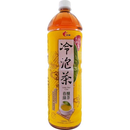《光泉》冷泡茶春釀綠茶-微甜(1235ml/瓶)