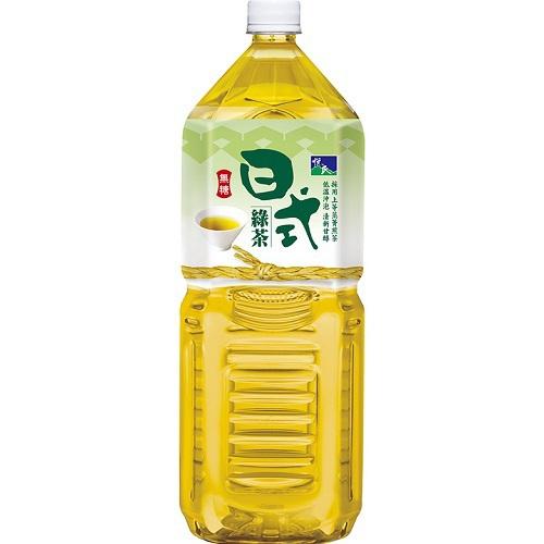 悅氏 日式綠茶-無糖(2000ml/瓶)