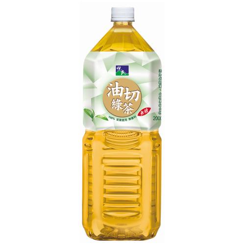 悅氏 油切綠茶(2000ml/瓶)