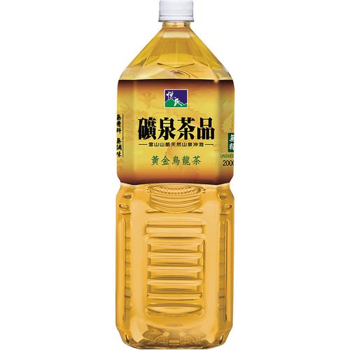 悅氏 礦泉黃金烏龍茶-無糖(2000ml/瓶)