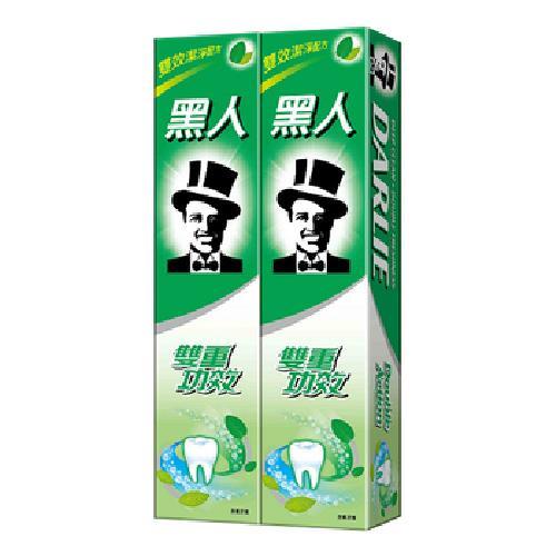 《黑人》雙重功效含氟牙膏(200g*2)-黑人全系列滿249送收納袋*1
