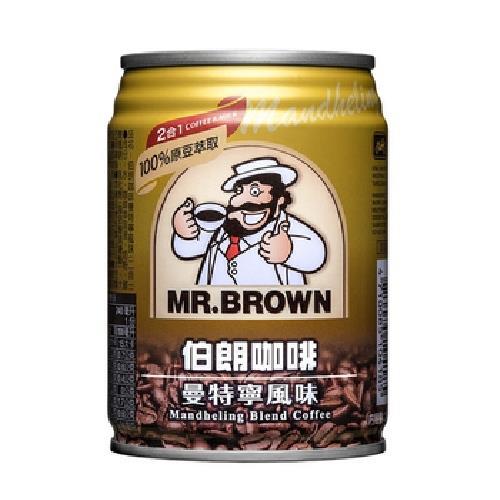 金車 伯朗曼特寧咖啡2合1(240mlx6罐/組)