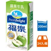 《福樂》蘋果牛乳(200ml*24包/箱)