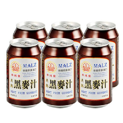 《崇德發》天然黑麥汁(330ml*6罐/組)
