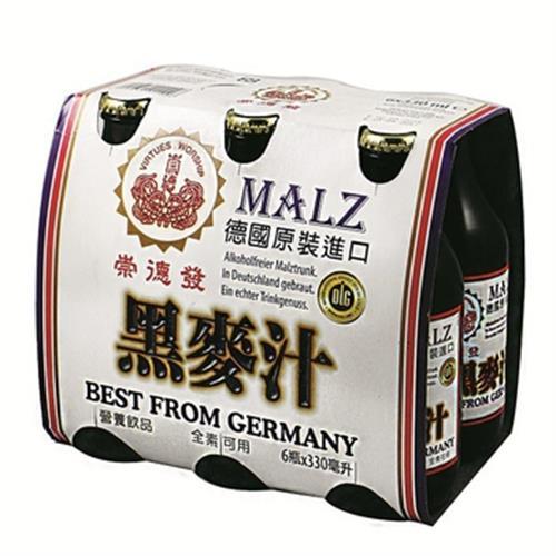 崇德發 德國天然黑麥汁(330cc*6瓶/組)