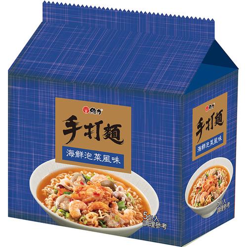 維力 手打麵-海鮮泡菜(80gx5包/組)