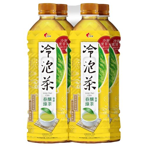 光泉 冷泡茶-春釀綠茶(微甜)(585ml*4瓶/組)