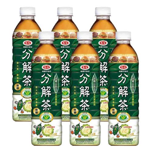 愛之味 健康的油切分解茶(無糖)(590ml*6瓶/組)