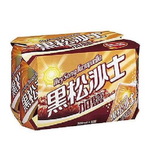 《黑松》沙士-加鹽(330ml*6罐/組)