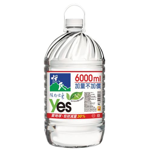 悅氏 礦泉水家庭號(6000cc/桶)