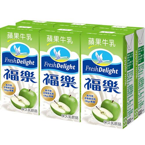 福樂 蘋果保久乳(200ml*6包/組)