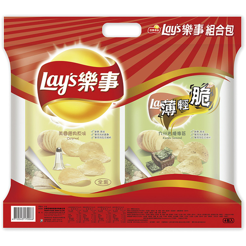 《Lay's樂事》樂事組合包(43gx4包/組)