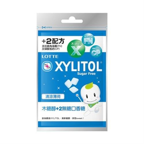 LOTTE 樂天木糖醇+2無糖口香糖-清涼薄荷(35g/包)
