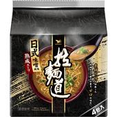 《統一》拉麵道-日式味噌風味拉麵(101g*4入)