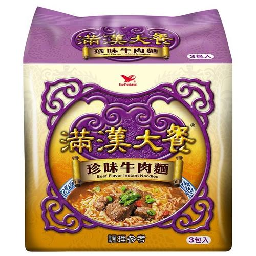 統一 滿漢大餐珍味牛肉麵(173g*3包/組)