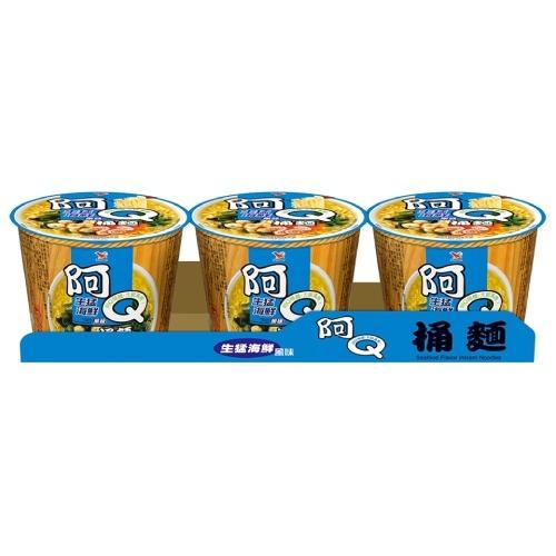 統一 阿Q桶麵-生猛海鮮風味(98g*3桶/組)