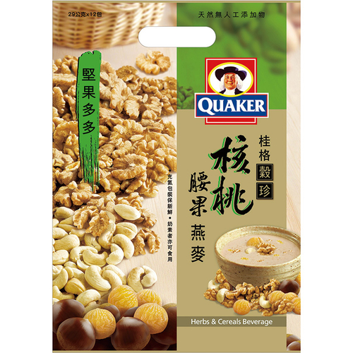 桂格 堅果多多-核桃腰果燕麥(28g*12包/袋)