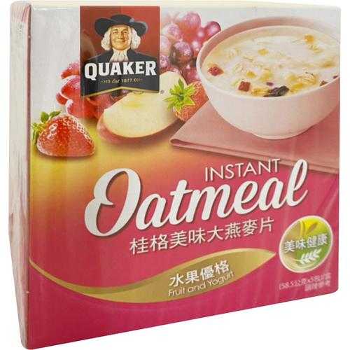 桂格 美味大燕麥片水果優格(58.5g*5包/盒)