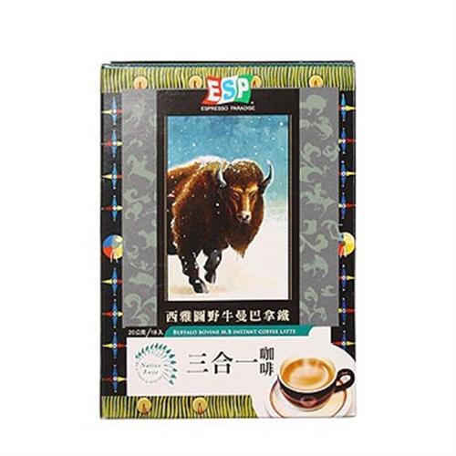 西雅圖 野牛曼巴拿鐵三合一咖啡(20g*18包/盒)
