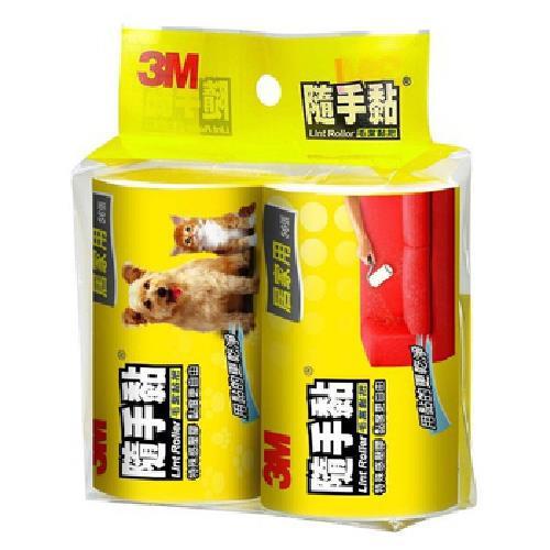 《3M》隨手黏毛絮黏把補充包-平面用(70張/2卷)