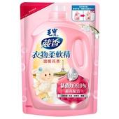 《毛寶》衣物柔軟精補充包-溫暖花香(1900g/包)