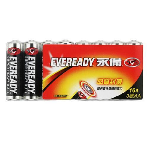 《永備黑金鋼》碳鋅電池 3號(16入量販包)
