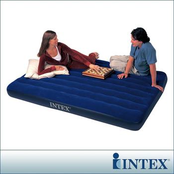 ★結帳現折★INTEX 雙人加大植絨充氣床墊-寬152cm