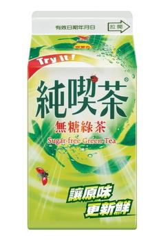 統一 純喫茶綠茶無糖(481ml/瓶)