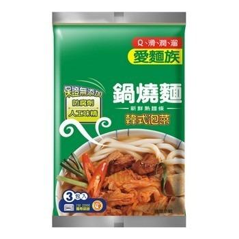 愛麵族 鍋燒麵-韓式泡菜(200g*3包/組)