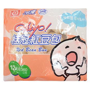 桂冠 活力Ohiyo紅豆包(360g(12粒)/包)