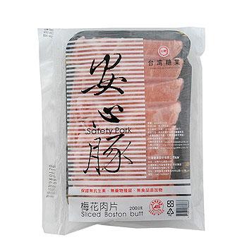 台糖 安心豚梅花肉片(200g/包)