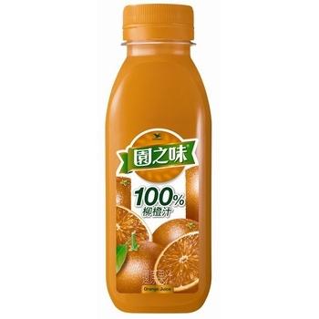 統一 園之味100%果汁柳橙汁(400ml/瓶)