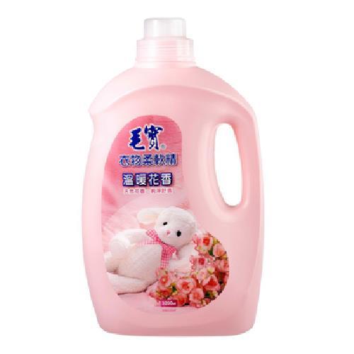 毛寶 衣物柔軟精-溫暖花香(3200g/瓶)