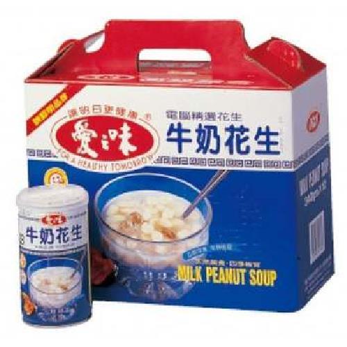 愛之味 牛奶花生-禮盒(340gx12罐/盒)
