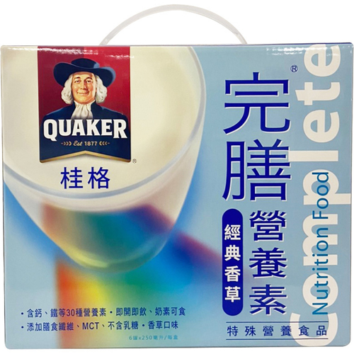 桂格 完膳營養素-香草(250mlx6罐)