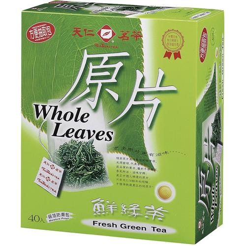 《天仁》原片鮮綠茶(40入/盒)